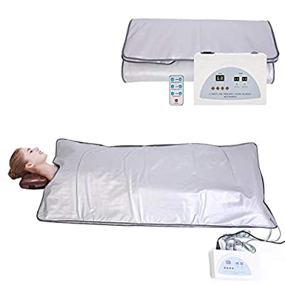TOUKUN Digital Far-Infrared (Fir) Heat Sauna Blanket 2 Zone Controller To Reduce Weight Thin Body Home Beauty